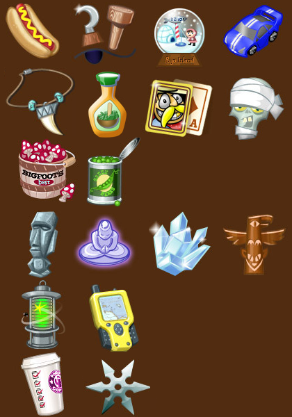 Thousand Island Solitaire Rare Items