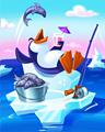Penguin Blocks - Chill Penguin Badge