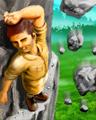 Tri Peaks Solitaire - Beware of Falling Rocks Badge