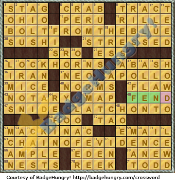 Crossword cove solution august 25 for Sashimi fish crossword