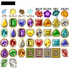 Mahjong Garden: Gems Tileset