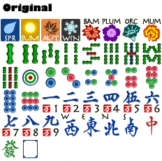 Mahjong Garden: Original Tileset