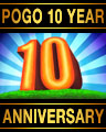Pogo 10 Year Anniversary Badge
