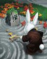 Mahjong Garden - Becalmed Bunny Badge