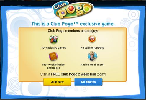 Club pogo exclusive games