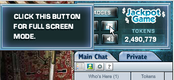 New Full Screen button in Clue