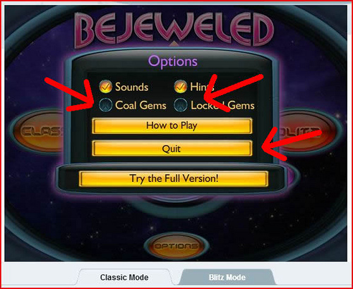 Bejeweled Twist - Fruit Gems - Options