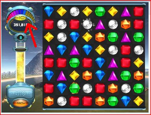 Bejeweled Twist - Fruit Gems - Rainbow Chain Meter Filling Up