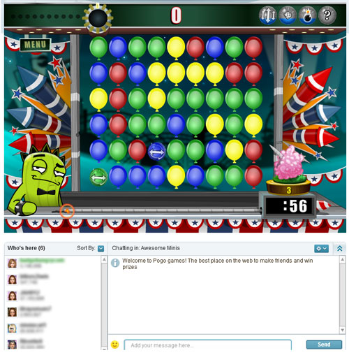chat games popit chat