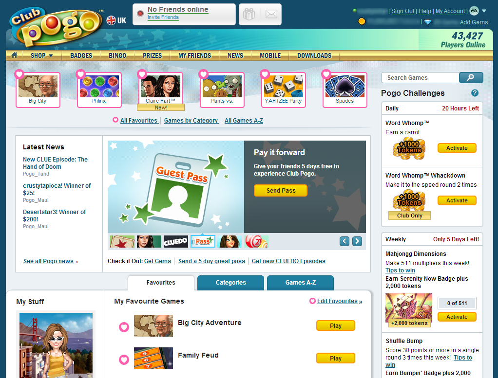 giveback.cf is a free online gaming website that offers over casual games from brands like Hasbro and PopCap giveback.cf offers a variety of card and board games like First Class Solitaire and Monopoly to puzzle, sports and word games like giveback.cf is owned by Electronic Arts and is based in Redwood Shores, CA.. The website is free due to advertising sponsorships but during a game, it.