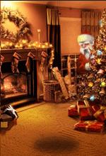 Club Pogo Santa Surprise free Mini background 2012