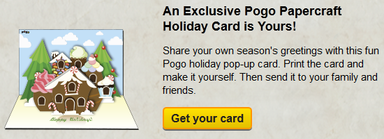 An Exclusive Pogo Papercraft Holiday Card