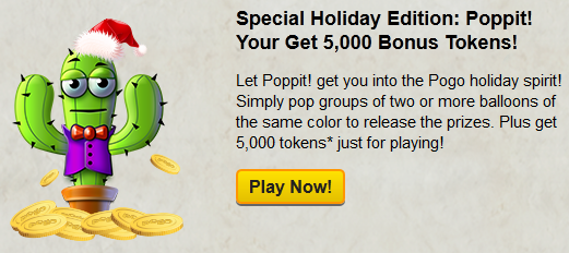 Holiday Countdown - Free Tokens in Poppit