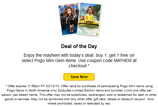 pogo coupon code march
