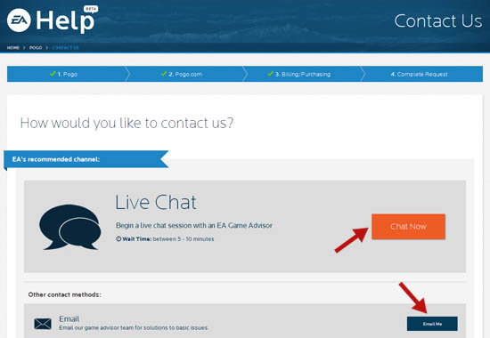 How to Contact Pogo Help - Get to Live Chat