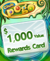 $1000 Value Rewards Card Winner Badge