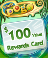 $100 Value Rewards Card Winner Badge