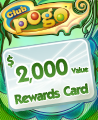 $2000 Value Rewards Card Winner Badge