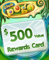 $500 Value Rewards Card Winner Badge