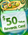 $50 Value Rewards Card Winner Badge