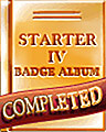Starter 4 Badge Album Completion Badge
