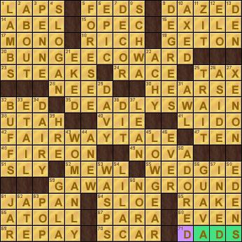Minotaur S Home Crossword