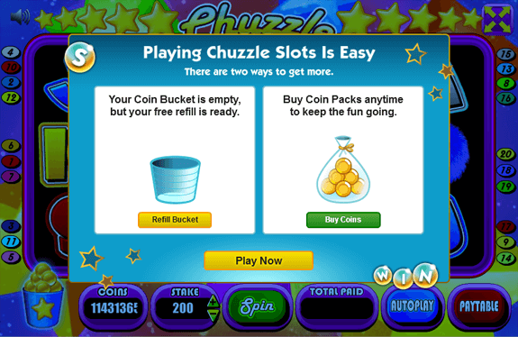 Chuzzle Slots - Ready for Refill