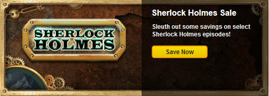 Today only save 25 on sherlock holmes episodes for Big fish casino promo code free chips