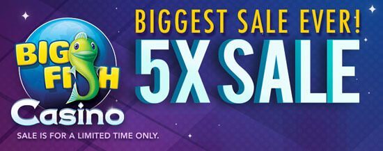 Big Fish Casino: Biggest Sale Ever: 5X