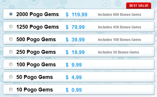 Gem Packages for Purchase