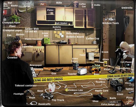 Find-O-Vision Crime Scene