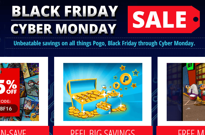 Pogo s black friday cyber monday sales are on for Gold fish casino promo codes