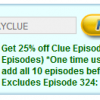 Coupon Code: Save 25% on Select Clue Episodes