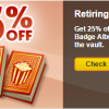 On Sale: Retiring Premium Badge Albums