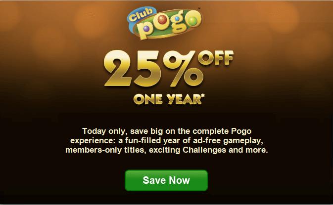 Club Pogo.com Coupon & Promo Codes