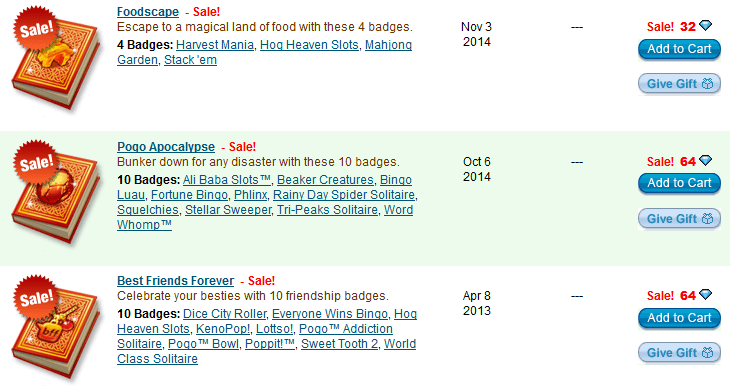 Premium Badge Albums on Sale