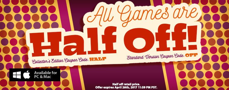 Coupon codes all games are half off for Big fish casino free chips promo code