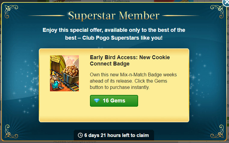 Superstar Offer: Cookie Connect Badge