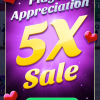 5X Player Appreciation Sale