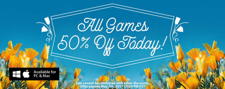 Weekend sale all games are half off for Big fish casino promo code free chips