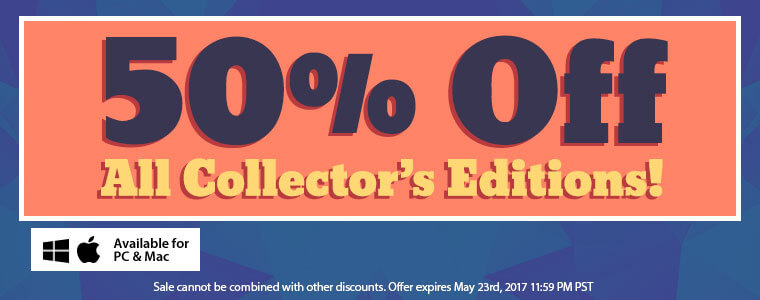 Save 50 on collector s editions today only for Big fish games coupon