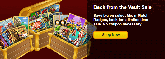 Sale on Mix-n-Match Badges Back from the Vault