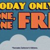 Today Only: Buy One, Get One Free