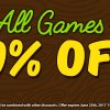 Weekend Sale: 50% off All Games