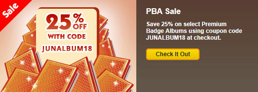 Coupon code 25 off premium badge albums for Gold fish casino promo codes