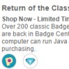 Coming Soon: Over 200 Re-Released Java Badges