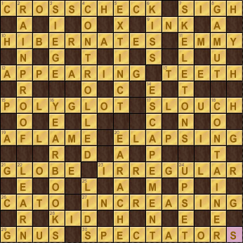Crossword Cove Solution: August 13, 2017