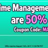 Coupon Code: Half Off All Time Management Games