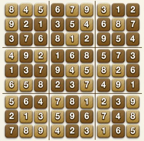 Pogo Sudoku: Complete Puzzle