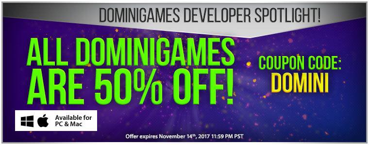 Developer Spotlight: Domini Games + Coupon Code